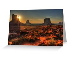 The Touch of Sunlight Greeting Card