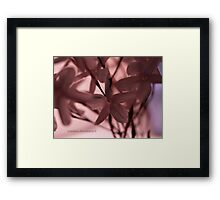 """""""Trust In What You Love"""" Framed Print"""