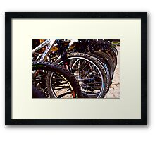 Lined up Bikes Framed Print