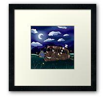 Goodnight, Cat Bus! Framed Print