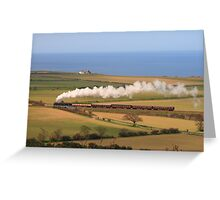 North Norfolk Landscape & Railway Greeting Card