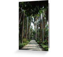 Botanic Gardens Kitchener Island Egypt Greeting Card