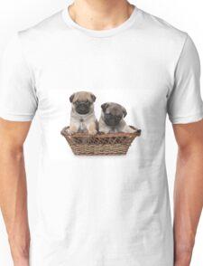 two cute pug puppy Unisex T-Shirt
