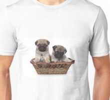 two cute pug puppy Unisex T-Shirt