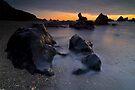 West Coast Beach at Sunset by Paul Mercer