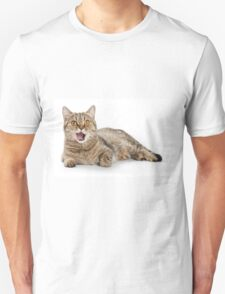 funny striped cat licked Unisex T-Shirt