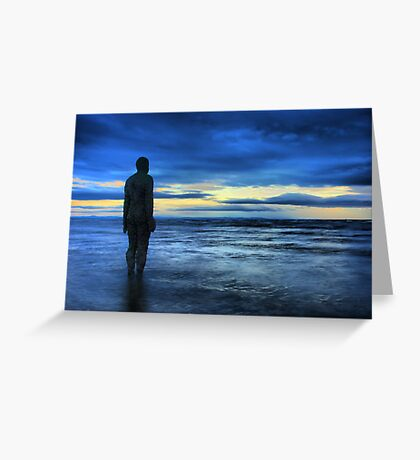 Statues on the beach Greeting Card