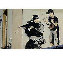 Banksy Sniper Photographic Print