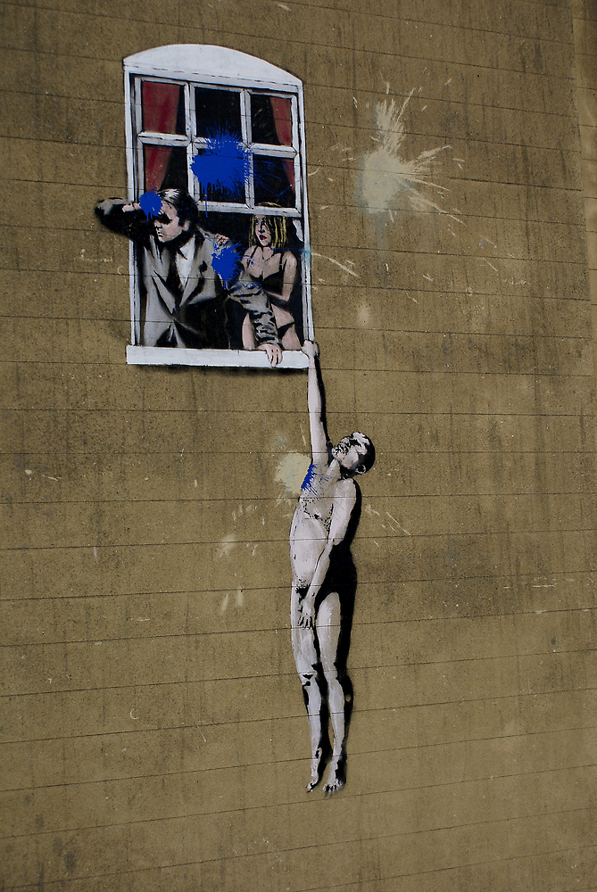 Banksy Bristol Love Cheat by Kiwikiwi