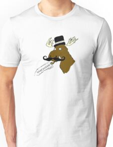Moose-Stache Unisex T-Shirt