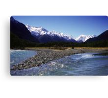Eglinton River, Fiordland National Park, New Zealand Canvas Print