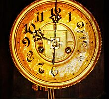 Antique Clock Face with Numbers by Bine