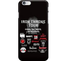 Iron Throne Tour (Game of Thrones Shirt) iPhone Case/Skin