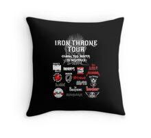 Iron Throne Tour (Game of Thrones Shirt) Throw Pillow