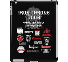 Iron Throne Tour (Game of Thrones Shirt) iPad Case/Skin