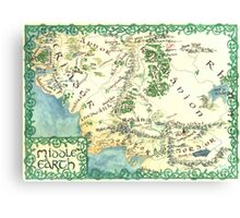 Hand painted custom Middle Earth design Canvas Print