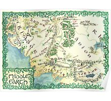 Hand painted custom Middle Earth design Poster