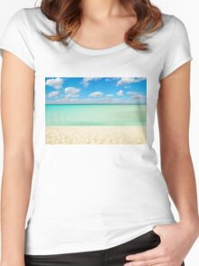 Varadero Beach, Cuba Women's Fitted Scoop T-Shirt