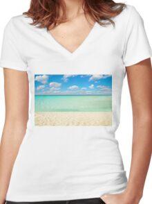 Varadero Beach, Cuba Women's Fitted V-Neck T-Shirt