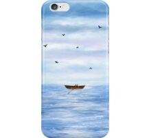 Illustration of a lonely boat iPhone Case/Skin