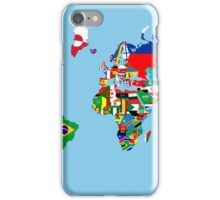 world flags map iPhone Case/Skin