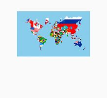 world flags map Unisex T-Shirt