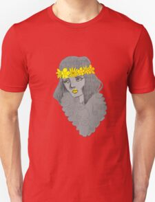 Woman with Flowers T-Shirt