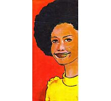 Afro hair and yellow Photographic Print