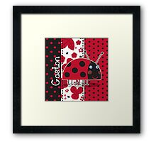 Gaston the Ladybird Framed Print