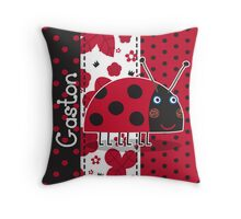 Gaston the Ladybird Throw Pillow
