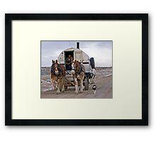 Sheep Wagon, Red Desert, Wy Framed Print