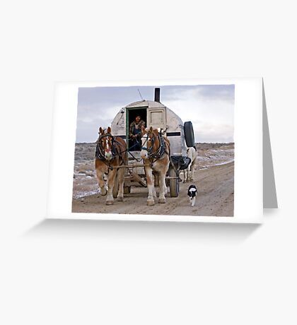Sheep Wagon, Red Desert, Wy Greeting Card