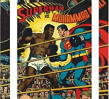 Comic Superman vs Muhammad Ali with Stripes by zamora