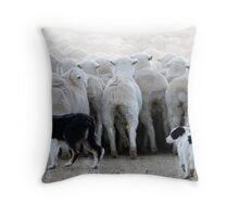 Sheep Dog in Training, Red Desert, Wyoming Throw Pillow