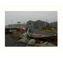 Low tide Peggy's Cove. Art Print
