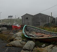 Low tide Peggy's Cove. by Richard  Stanley