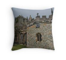 St Cybi's Church - Holyhead, Wales Throw Pillow
