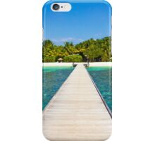 Postcard from the Maldives - Velidhu Atoll in the Indian Ocean iPhone Case/Skin