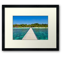 Postcard from the Maldives - Velidhu Atoll in the Indian Ocean Framed Print