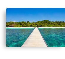 Postcard from the Maldives - Velidhu Atoll in the Indian Ocean Canvas Print