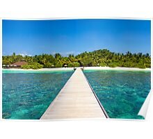Postcard from the Maldives - Velidhu Atoll in the Indian Ocean Poster