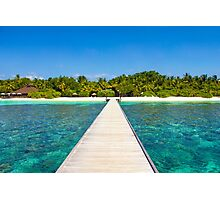 Postcard from the Maldives - Velidhu Atoll in the Indian Ocean Photographic Print