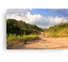 Landscape - Rough Road in Mountains Canvas Print