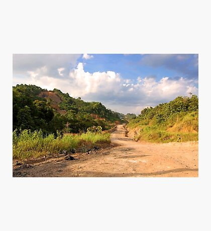 Landscape - Rough Road in Mountains Photographic Print