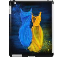 Abstract fashion in blue and orange iPad Case/Skin