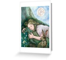 March Moon Greeting Card