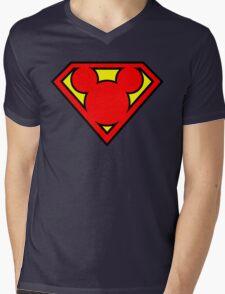 Super Mickey Mens V-Neck T-Shirt