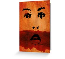 Red Lips Greeting Card