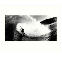 the art of bodysurfing Art Print