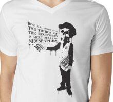 Two Thirds Mens V-Neck T-Shirt